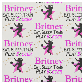 EAT, SLEEP, PLAY SOCCER PERSONALIZED FABRIC