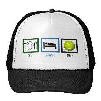 Eat Sleep Play Tennis Trucker Hat