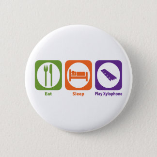 Eat Sleep Play Xylophone 2 Inch Round Button