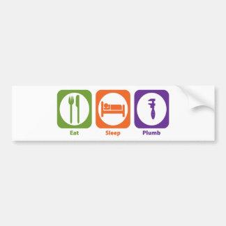Eat Sleep Plumb Bumper Sticker