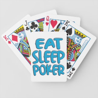 Eat sleep poker bicycle playing cards