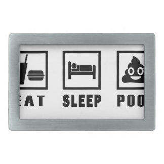 EAT SLEEP POOP BELT BUCKLES