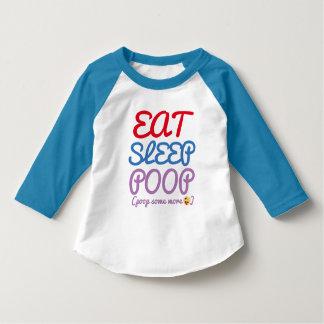 eat sleep poop more funny toddler t-shirt design
