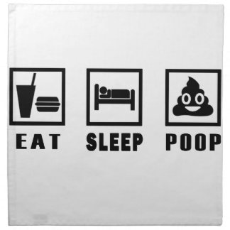EAT SLEEP POOP NAPKIN