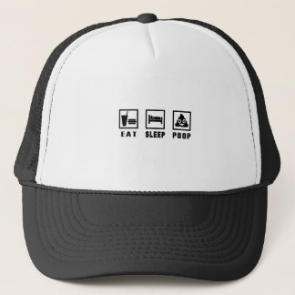 EAT SLEEP POOP TRUCKER HAT