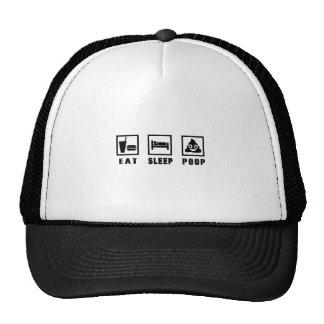 EAT SLEEP POOP TRUCKER HAT