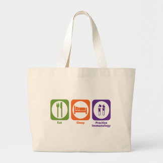Eat Sleep Practice Immunology Large Tote Bag