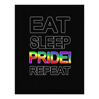 Eat sleep pride repeat letterhead