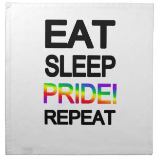 Eat sleep pride repeat napkin