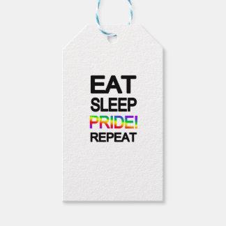 Eat sleep pride repeat pack of gift tags