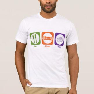 Eat Sleep Print T-Shirt