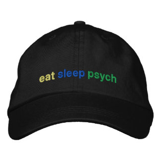 eat, sleep, psych embroidered hat
