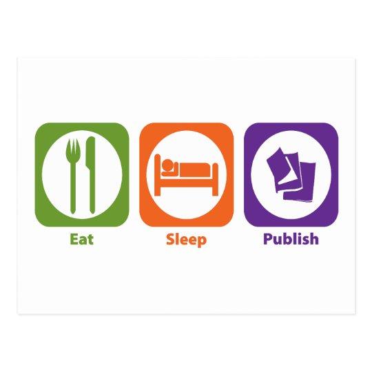 Eat Sleep Publish Postcard