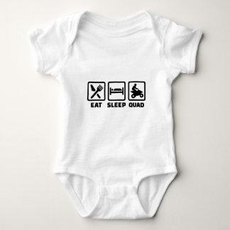 Eat sleep Quad Baby Bodysuit