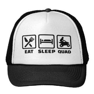 Eat sleep Quad Trucker Hat