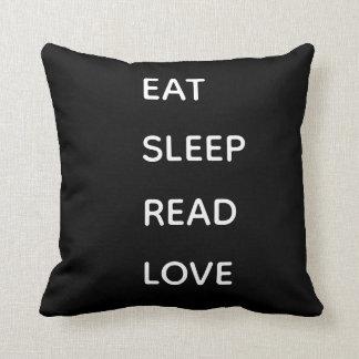 Eat, sleep read, love decorativ pillow