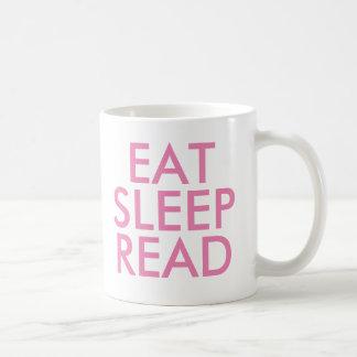 Eat Sleep Read mug   Cute Book Lover Slogan Mug