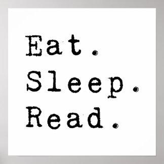 Eat. Sleep. Read. Poster