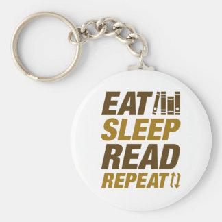 Eat Sleep Read Repeat Keychain