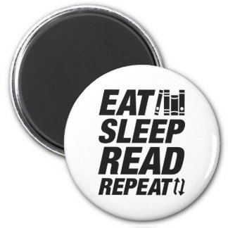 Eat Sleep Read Repeat Magnet