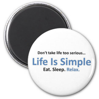 Eat, Sleep, Relax 2 Inch Round Magnet
