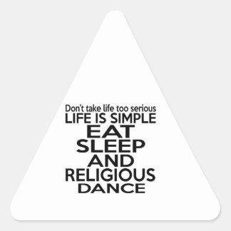 EAT SLEEP RELIGIOUS TRIANGLE STICKER
