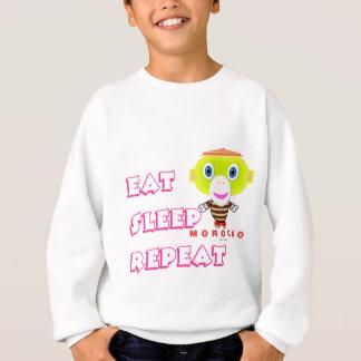 Eat Sleep Repeat-Cute Monkey-Morocko Sweatshirt