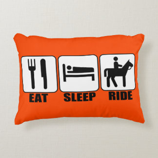 Eat Sleep Ride a Horse Custom Color Rider's Pillow