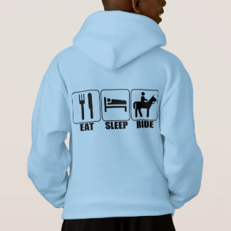 Eat Sleep Ride a Horse Kid's Equestrian Hoodie