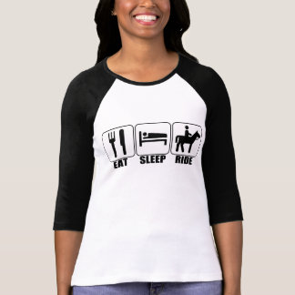 Eat Sleep Ride a Horse Women's Custom 3/4 Sleeve T-Shirt
