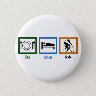 Eat Sleep Ride (Cyclists) 2 Inch Round Button