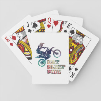 Eat Sleep Ride Dirt Bike Playing Cards
