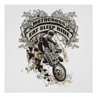 Eat, Sleep, Ride Motocross Poster