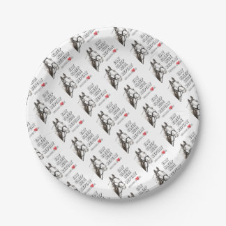 Eat Sleep Ride Repeat 7 Inch Paper Plate