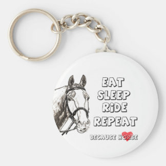 Eat Sleep Ride Repeat Keychain