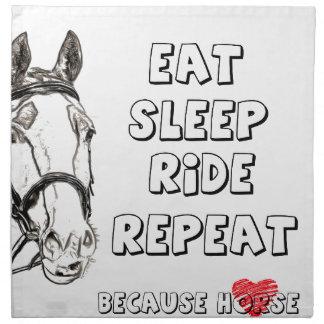 Eat Sleep Ride Repeat Napkin