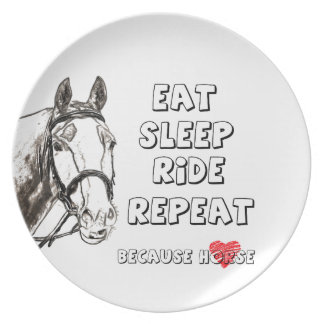Eat Sleep Ride Repeat Party Plate