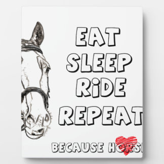 Eat Sleep Ride Repeat Plaque