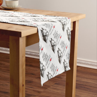 Eat Sleep Ride Repeat Short Table Runner