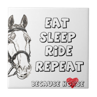Eat Sleep Ride Repeat Tile