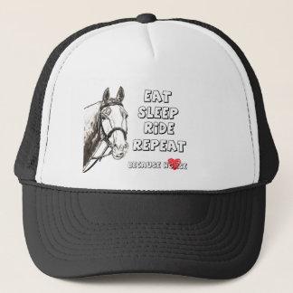 Eat Sleep Ride Repeat Trucker Hat