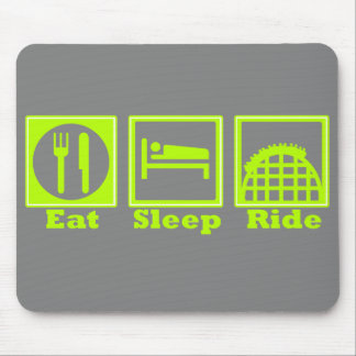 Eat, Sleep, & Ride (Roller Coasters) Mouse Pad