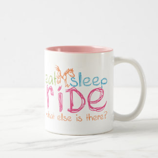 Eat Sleep Ride Two-Tone Coffee Mug