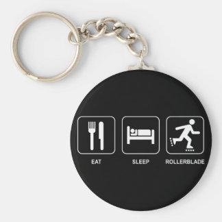 Eat Sleep Rollerblade Keychain
