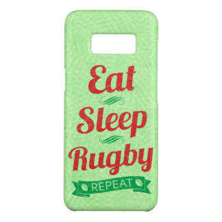 Eat Sleep Rugby Repeat Mobile Case