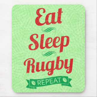 Eat Sleep Rugby Repeat Mousemat Mouse Pad