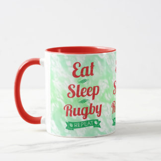 Eat Sleep Rugby Repeat Mug