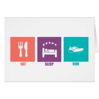 Eat Sleep Run Cards