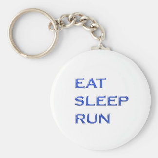 EAT SLEEP RUN NVN102 navinJOSHI wisdom script text Keychain
