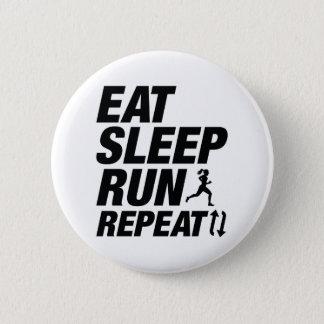 Eat Sleep Run Repeat 2 Inch Round Button